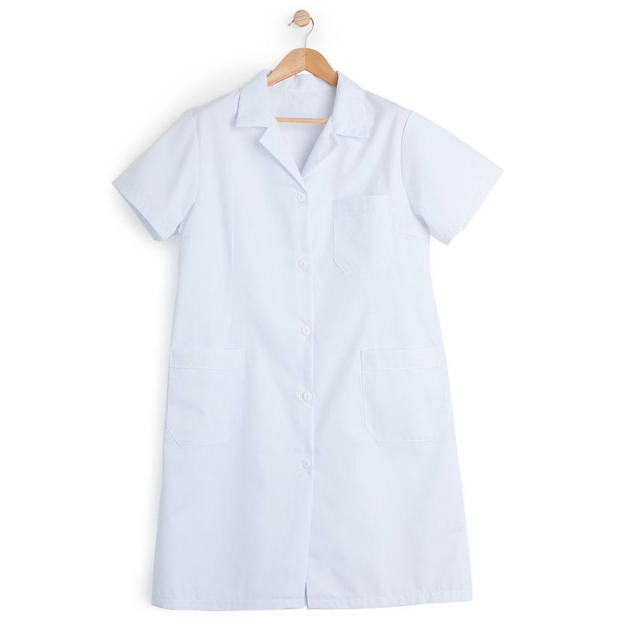 Bata mujer manga corta blanca