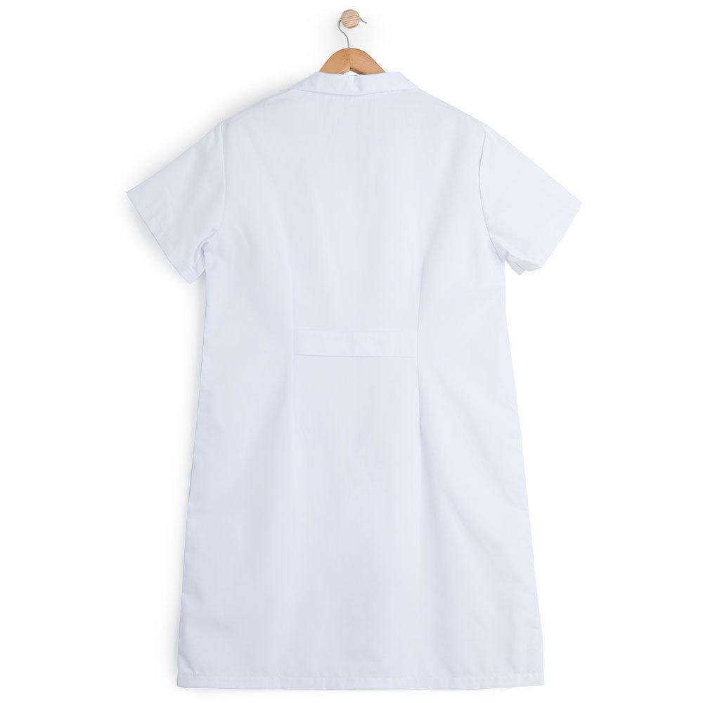 Bata mujer manga corta blanca.2