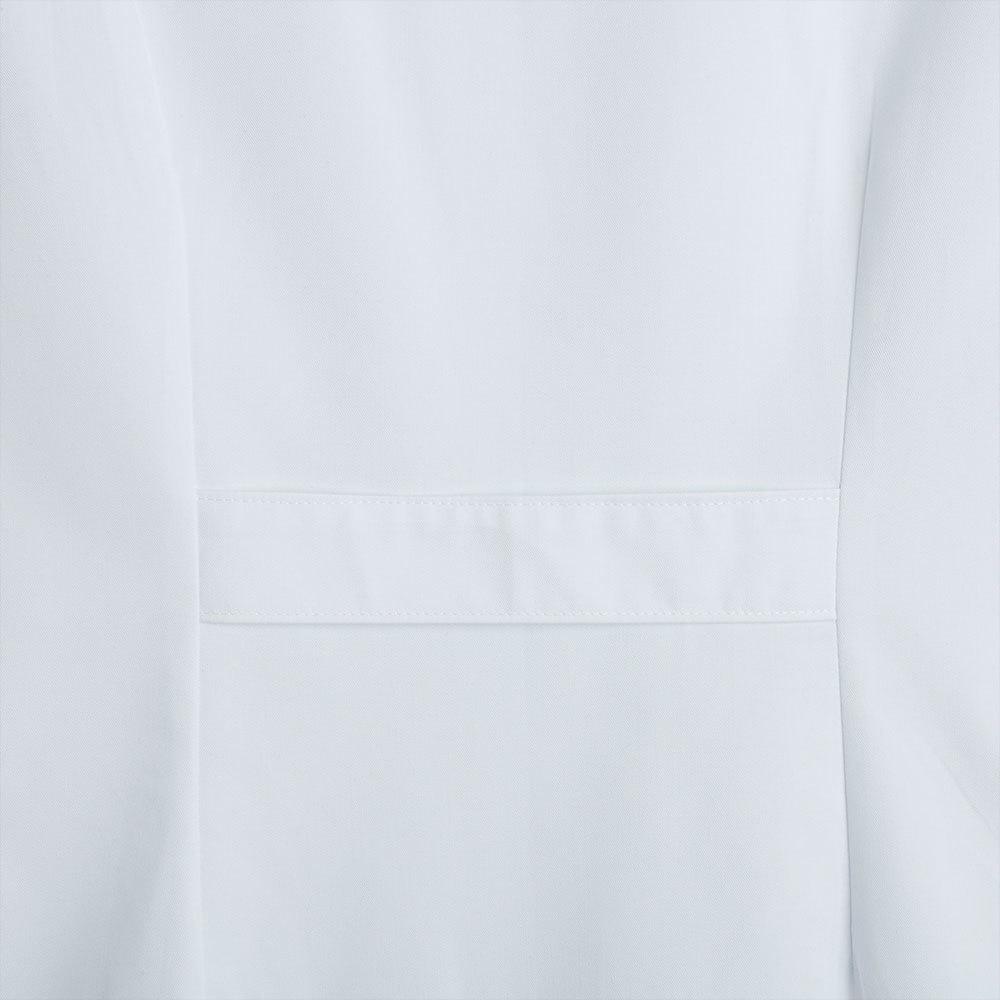 Bata mujer manga corta blanca.3