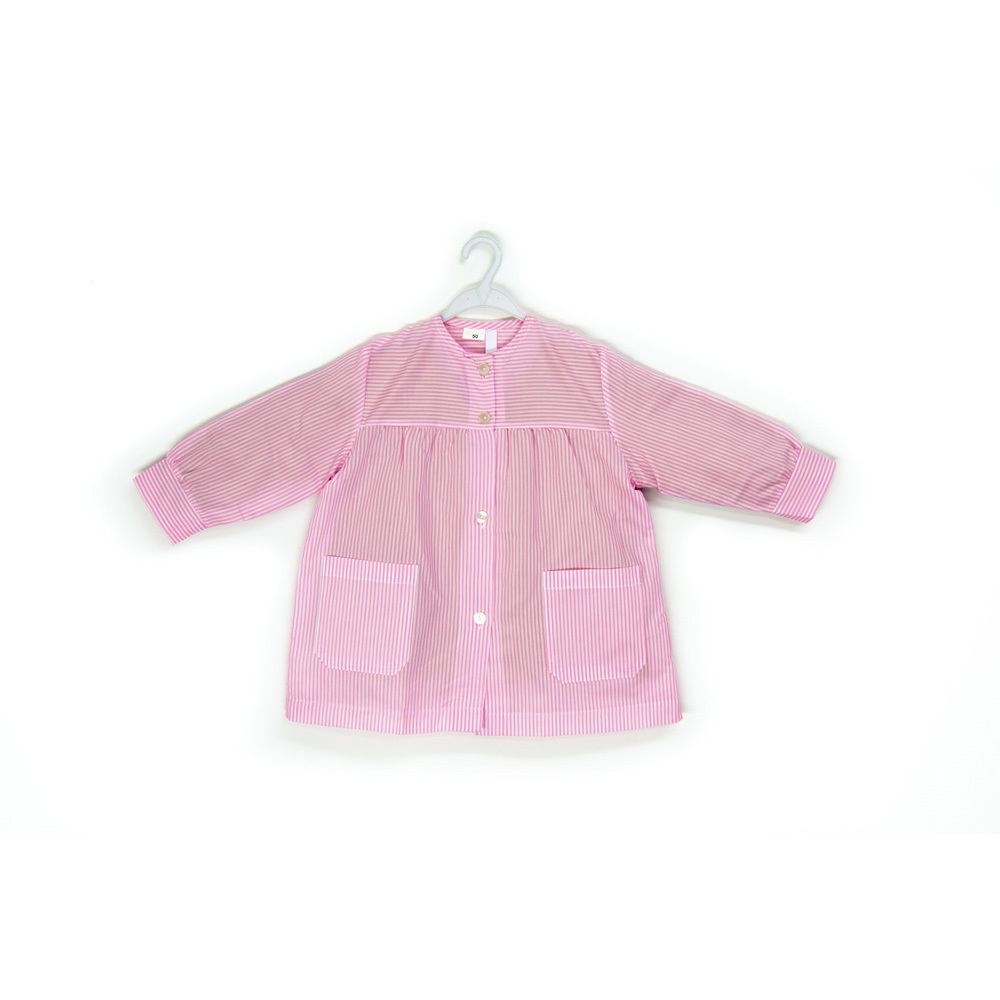 Mandilón modelo Grosella,lista rosa.