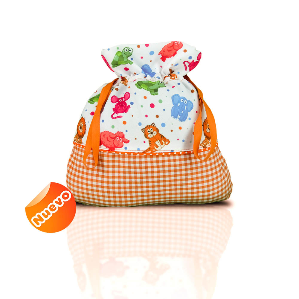 Bolsa de merienda con vivo  zoo con naranja con fonfo
