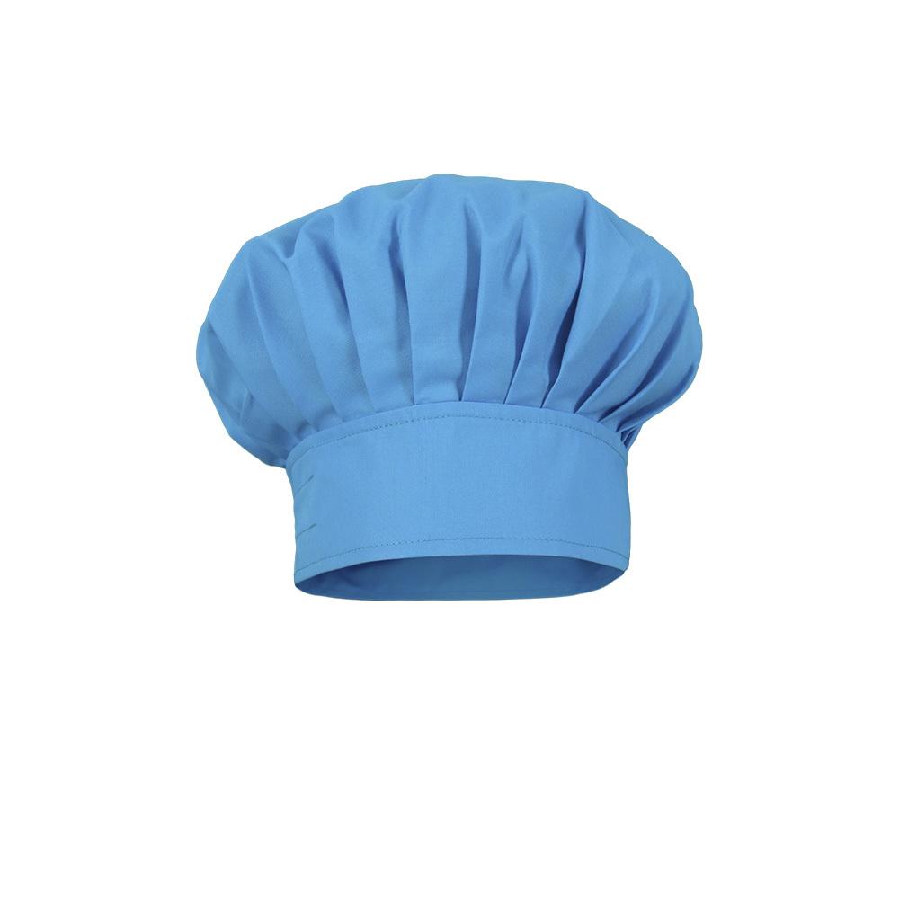 Gorro cocinero infantil modelo champi%c3%b1%c3%b3n azul turquesa.
