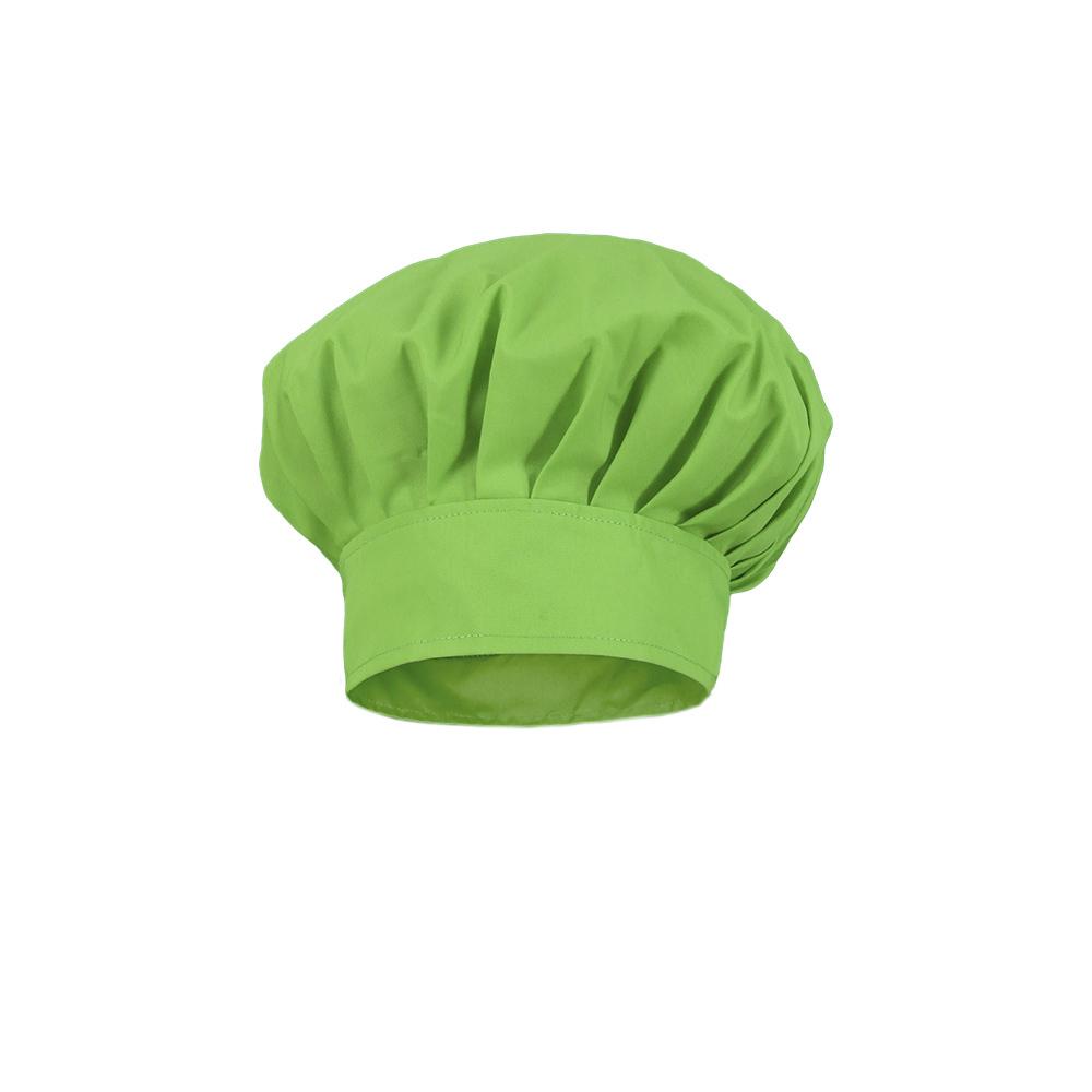 Gorro cocinero infantil modelo champi%c3%b1%c3%b3n verde pistacho.