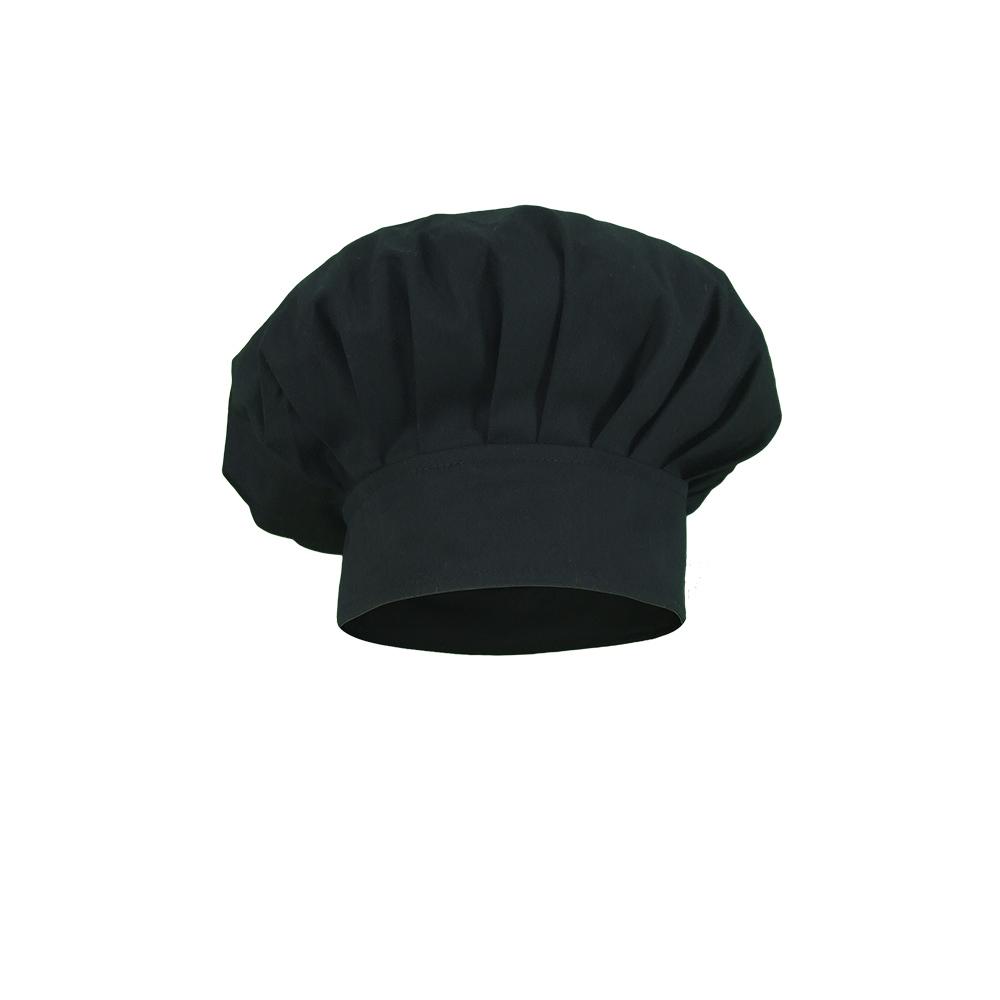 Gorro cocinero infantil modelo champi%c3%b1%c3%b3n negro.