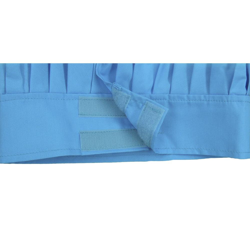 Gorro cocinero infantil modelo champi%c3%b1%c3%b3n azul turquesa.detalle.