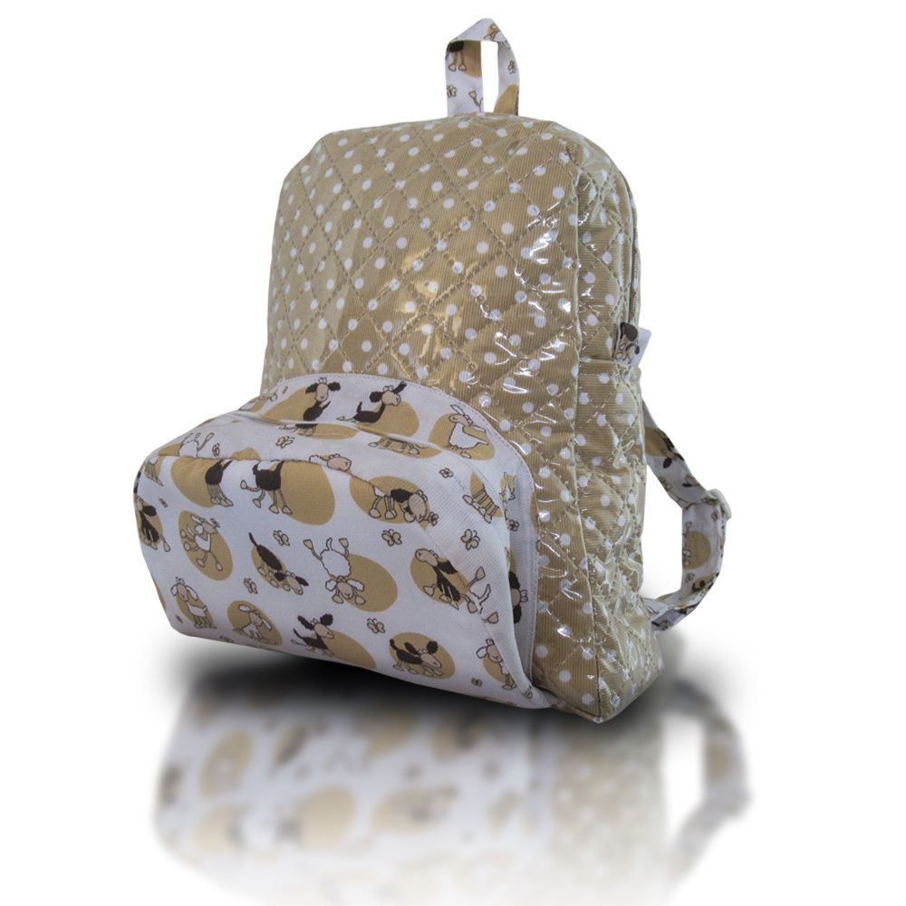 Mochila modelo sheep beige.lateral.